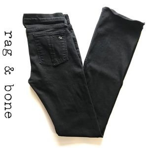 Rag and Bone Stiletto Boot cut black jeans 28